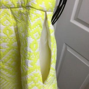 Parker Skirts - Parker yellow white mini skirt size S